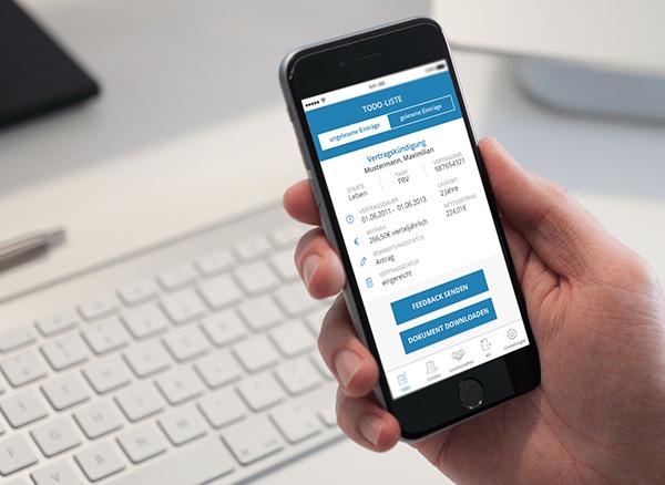 Makler-App -Dienstleistungen kostenfrei